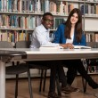 Couple Of Students In A Library — Stock Photo #73721779