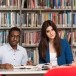 Group Of Young Students Sitting At The Library — Stock Photo #73722357