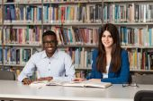 People Studying In A Library — Stock Photo