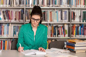 Young Student Sitting At The Library — Stock Photo