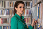 Fale College Student In A Library — Stock Photo