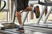 Exercising On A Treadmill — Stock Photo