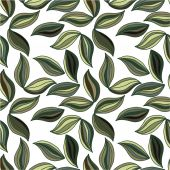 Pattern with striped leaves — Stock Vector