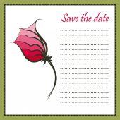 открытка с роуз — Cтоковый вектор