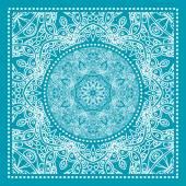Blue bandana print — Stockvector