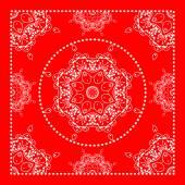 Bright red bandana — Vetor de Stock