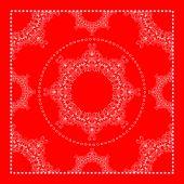 Яркий красный бандана — Cтоковый вектор