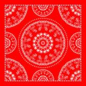 Bright red bandana — Wektor stockowy