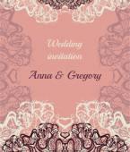 Cartão de convite de casamento — Vetor de Stock