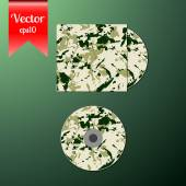Cd cover design template — Stock Vector