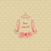 Best regards greeting card template. — Stock Vector