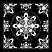 Black Bandana Print — Stok Vektör