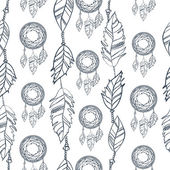 Seamless pattern di Doodle. — Vettoriale Stock