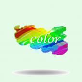 Chalk textured rainbow brushstroke — Stock Vector
