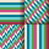Abstract geometric background set — Stock Vector