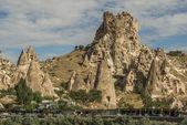 Morning Twilight in Fairy Chimneys of Goreme Valley Cappadocia — Stock Photo