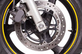 Motorcykeln rullar — Stockfoto