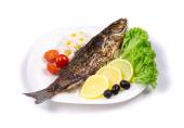 Grilled seabass — Stock Photo