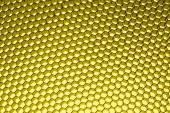 Honeycomb grid against yellow — Stockfoto