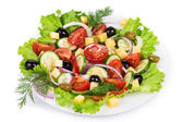 Greek salad in plate — Stock Photo