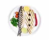 Fish fillet and seabass.  — Stock Photo