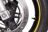 Motorcycle wheel  — 图库照片