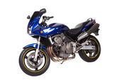 Blue powerful motorcycle.  — Stock Photo
