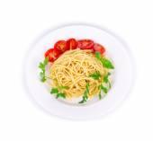 Pasta italiana con albahaca — Foto de Stock