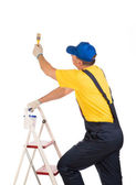 Worker on staircase  — Stock Photo