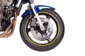 Fragment of motorcycle — Stock Photo