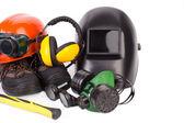 Protective helmets — Stock Photo