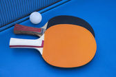 Composition on the tennis table. — Stock Photo