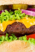 Hamburger layers — Stock Photo