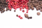 Red and black peppercorn. — Foto Stock