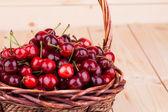 Cherries in basketry  — Stock Photo