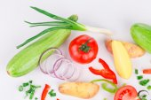 Fresh sliced vegetables — Stock Photo