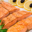 Grilled salmon fillets — Stock Photo #54738425