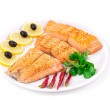 Grilled salmon fillets with rosemary. — Zdjęcie stockowe #55292521