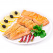 Grilled salmon fillets with rosemary. — 图库照片 #55292521