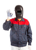 Welder in workwear suit. — Foto Stock