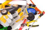 Various working equipment. Close up. — Stock Photo