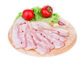 Chopped bacon — Stock Photo