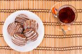 Tea and cookies biscuits. — Stock Photo