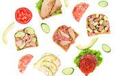 Delicious sandwiches — Stock Photo