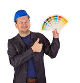 Worker with color samples. — Stock Photo