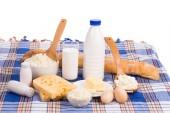 Deliciosos produtos lácteos. — Foto Stock