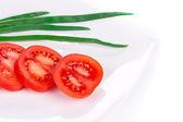 Tomaten und zwiebeln — Stockfoto