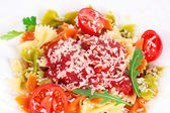 Pasta with tomato sauce  — Foto Stock