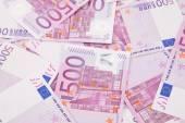 Euro notes aligned as background. — Stock Photo