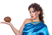 Egyptian Style Woman with coconut — Stockfoto